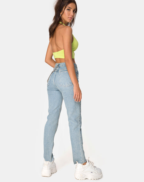Lini Crop Top in Lime by Motel