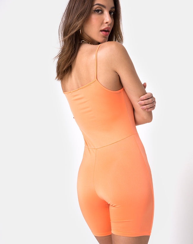 Lita Unitard in Fluro Orange by Motel