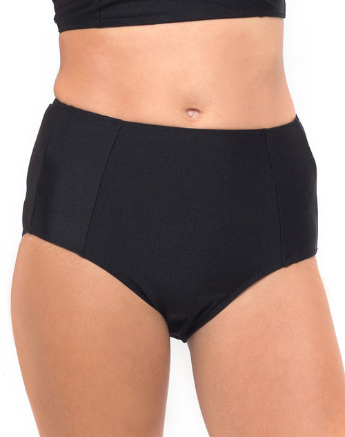 Longline Bikini Bottom in Black by Motel