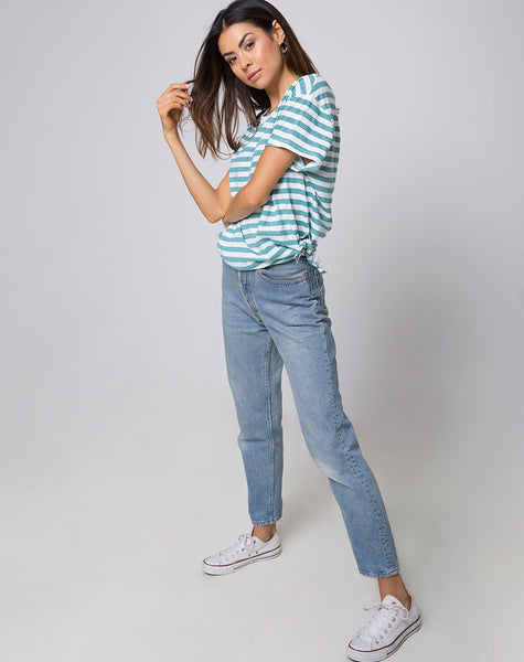 Loose Knot Top in Mid Stripe by Motel