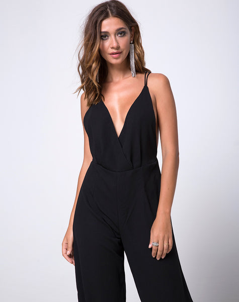 Lorelai Jumpsuit in Black by Motel