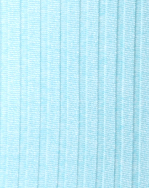 Lucia Bodice in Ribbed Powder Blue