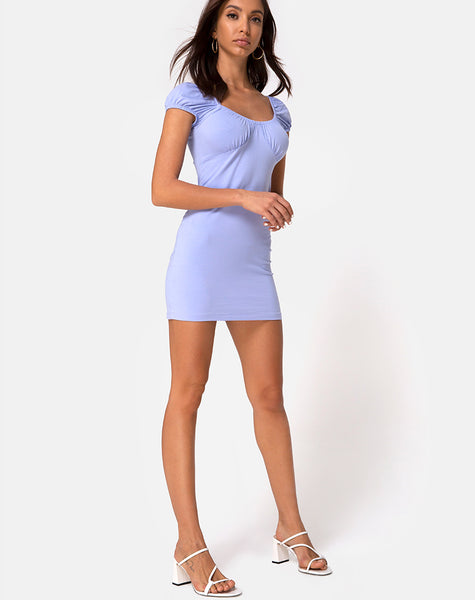 Malia Mini Dress in Cornflower Blue by Motel
