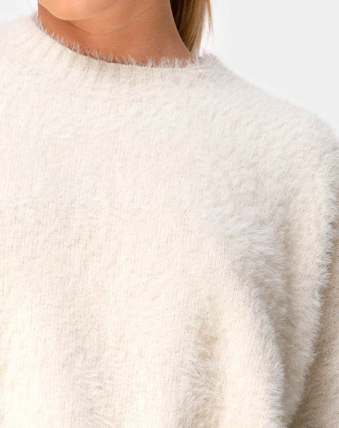 Margo Jumper in Knit Oatmeal by Motel