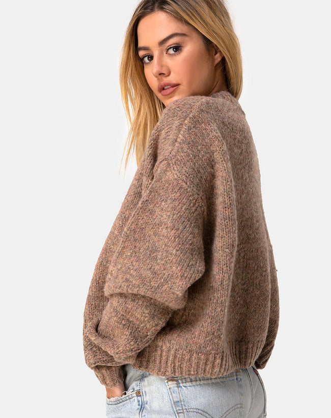 Margo Jumper in Knit Tan by Motel