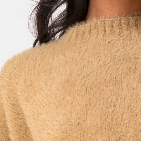 Margo Jumper in Knit Taupe