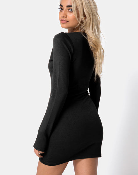 Marley Dress in Rectangle Square Black by Motel