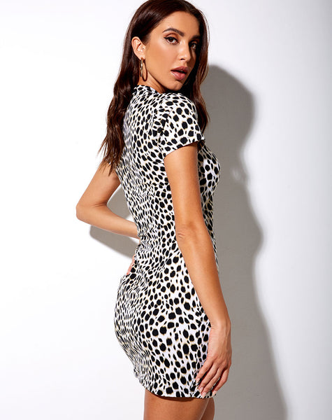 Marlin Bodycon Dress in Cheetah