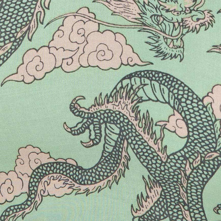 Maudy Crop Top in Chinese Dragon Neo Mint