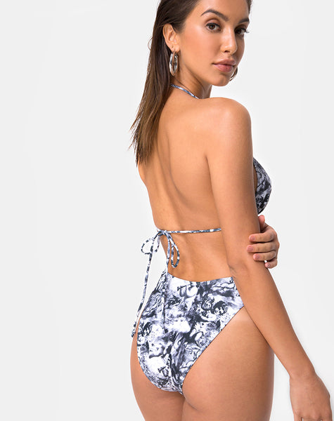 Meeka Bikini Bottom in Cherub Grey by Motel