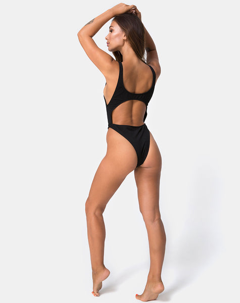Mejia Swimsuit in Rib Black by Motel