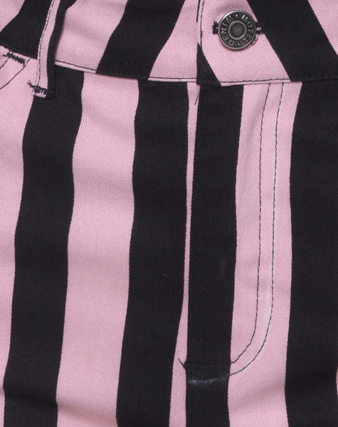 Mini Broomy Skirt in Campbell Stripe