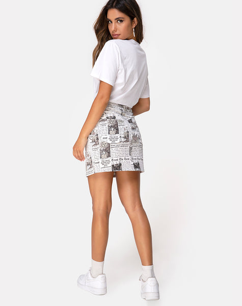 Mini Broomy Skirt in Tarot by Motel