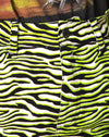 Mini Broomy Skirt in Zebra Fluro Green