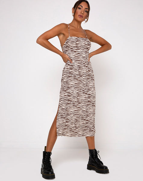 Mirzani Dress in Easy Tiger Cocoa