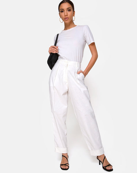 Misca Trousers in Ivory by Motel