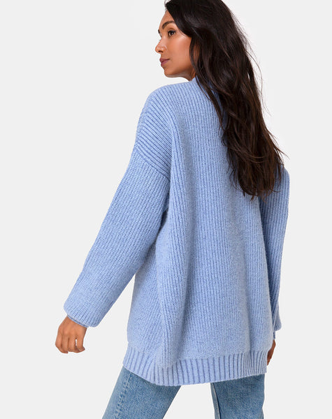 Mody Jumper in Blue Rib by Motel