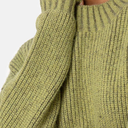 Mody Jumper in Green Rib