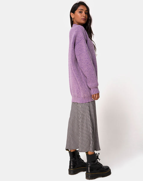 Mody Jumper Knitted in Light Purple by Motel