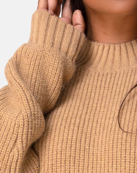 Mody Jumper in Tan Rib by Motel