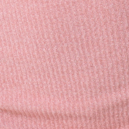 Moeena High Neck Top in Knit Crinkle Rib Pink by Motel