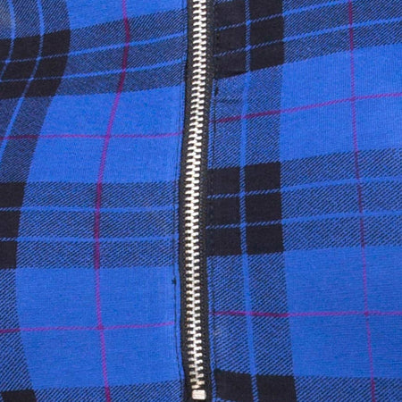 Molaka Highneck Bodice in Tartan Blue By Motel