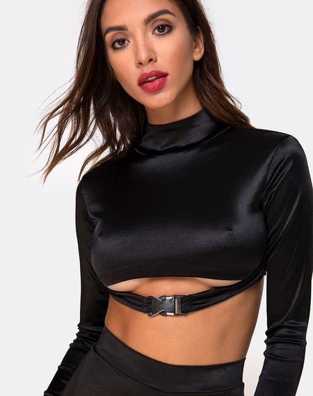 Lomiva Crop Top in Black