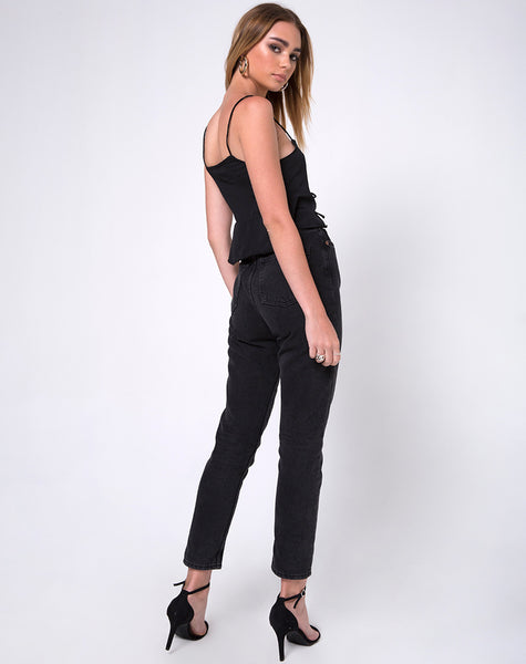 Moode Cami Top in Black by Motel