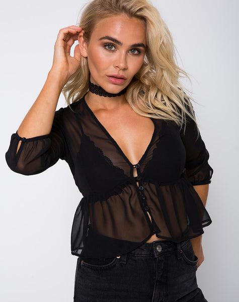 Mosca Top in Black by Motel