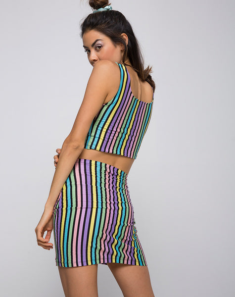 Mucell Crop Top in New Stripe by Motel