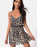 Sanna Slip Dress in Oversize Jaguar By Motel