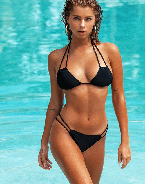Halow Bikini Bottom in Black by Motel
