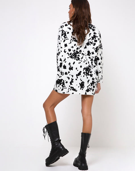 Neve Jumper Dress in Dalmatian by Motel