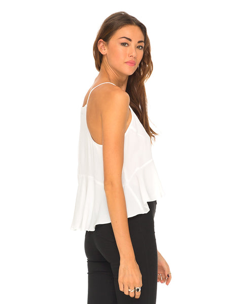 Motel Nicole Cami Top in New White