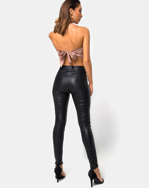 Nolia Tube top in Satin Gold by Motel