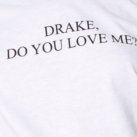 Oversize Basic Tee in White Drake Do You Love Me