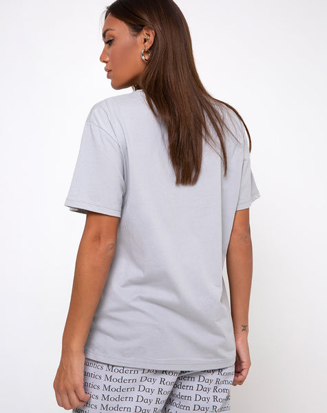 Oversize Basic Tee in Modern Day Romantics Grey by Motel