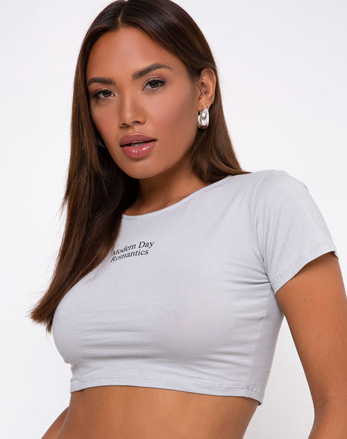 Tindy Crop Top in Modern Day Romantic Grey by Motel