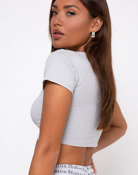 Tindy Crop Top in Modern Day Romantics Grey by Motel