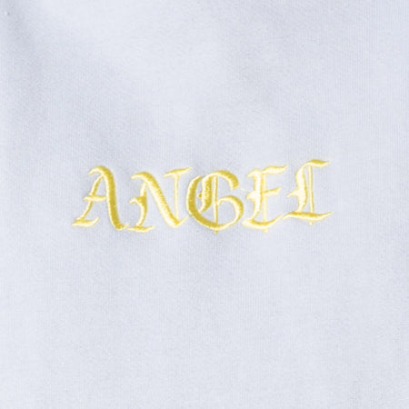 "Oversize Hoody in Baby Blue with Lemon ""Angel"" Embro by Motel"