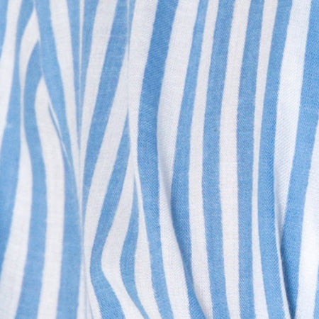 Oxford Shirt in Basic Stripe Blue and White by Motel