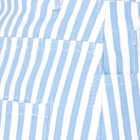 Mini Broomy Skirt in Basic Stripe Blue and White by Motel