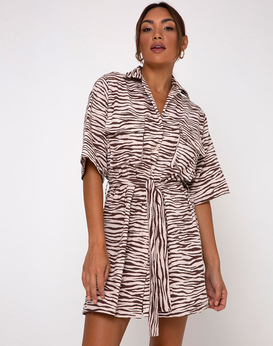 Pamela Dress in Easy Tiger Cocoa by Motel 2