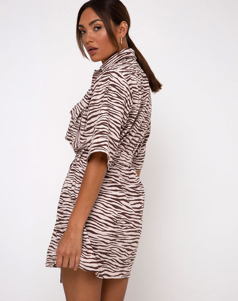 Pamela Dress in Easy Tiger Cocoa