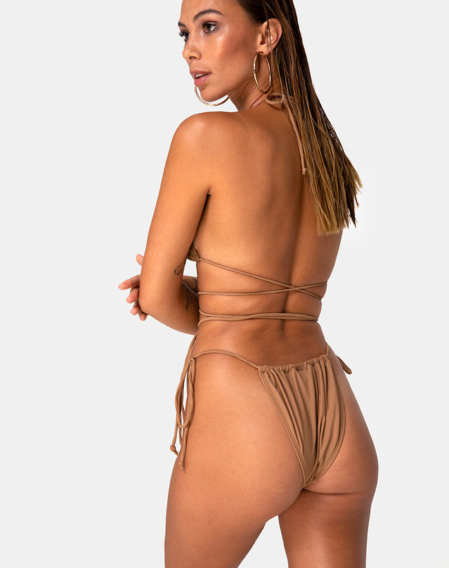 Leyna Bikini Bottom in Coco by Motel
