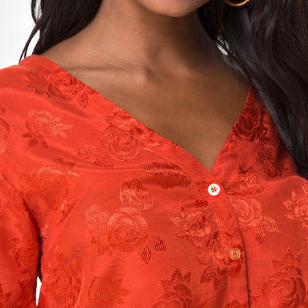 Parki Top in Satin Rose Rust
