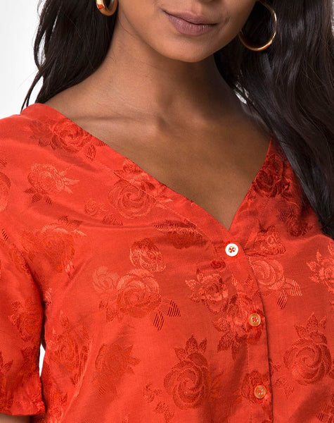 Parki Top in Satin Rose Rust by Motel