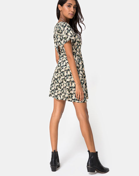 Peky Skater Dress in Aster Black by Motel