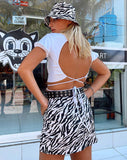 Pelmet Mini Skirt in 90's Zebra