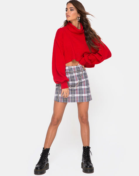 Pelmo Skirt in Heritage Check By Motel